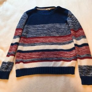 Blue, Red, White Knit Sweater